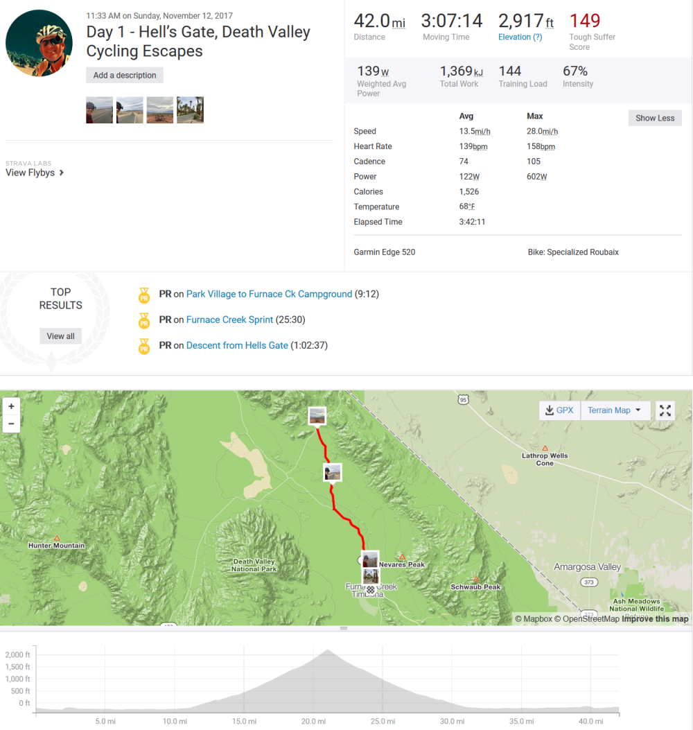 2017-11-13 21_30_39-Day 1 - Hell_s Gate, Death Valley Cycling Escapes _ Ride _ Strava